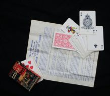 Collectable Vintage magic playing cards Casino 300 Bancroft partners